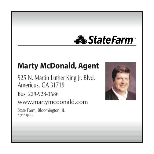 State Farm Marty Mcdonald Agent Insurance Agents Brokers Americus Ga
